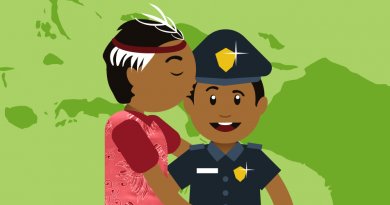 Papuan Police officer