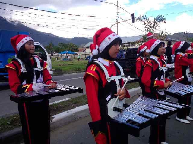 Santa Clause Parade in Papua